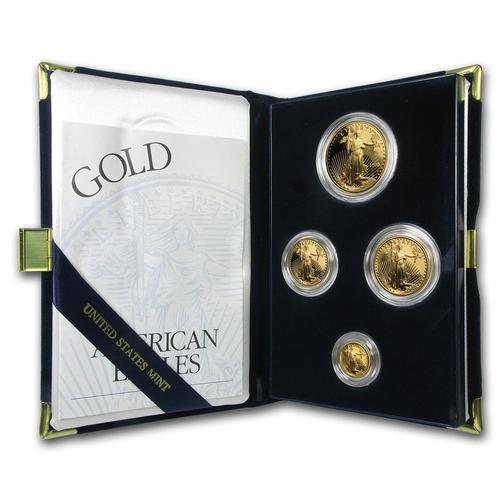 2000 4pc Proof Gold Eagle Set w/Box & Cert