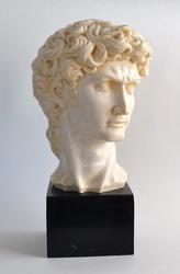 Vintage Signed Michelangelo's David Bust Sculpture