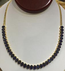 Gorgeous 18kt Gold Sapphire Necklace