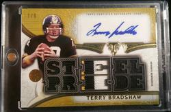 2015 Topps Triple Threads Terry Bradshaw Patch Auto 2/9