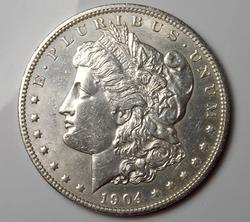 Almost Unc 1904-O Morgan Silver $