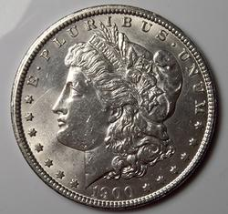 Almost Unc 1900 Morgan Silver $
