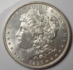Brilliant Uncirculated 1897 Morgan $