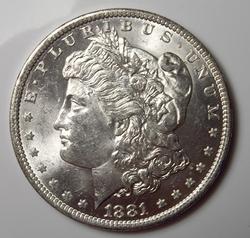 Brilliant Uncirculated 1881-O Morgan $