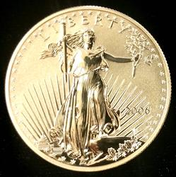 2006-W Reverse Proof $50 Gold Eagle 20th Anniversary