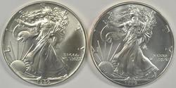 Key 1986 & 1996 Superb Gem BU $1 American Silver Eagles