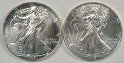 Superb Gem BU 1994 & 1996 $1 American Silver Eagles