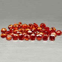 Vivid 10.23ct set of 36 red orange Spessartite Garnets