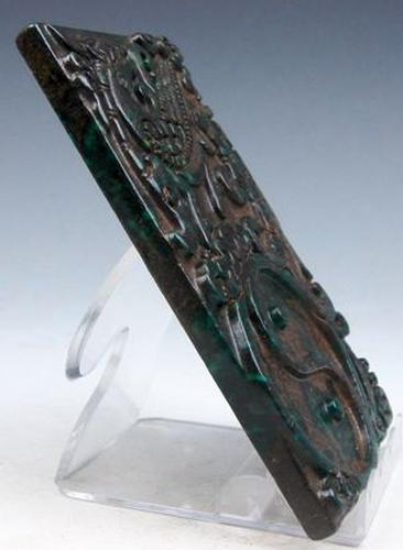 Jade stone carved paperweight usauctionbrokers
