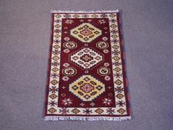 Lovely Handmade Kazak Design 2.1x4