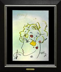 Original Watercolor Peter Max On Paper