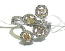 18kt Gold Multi Colored Diamond Ring!