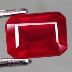 Pigeons blood red 1.77ct emerald cut Ruby