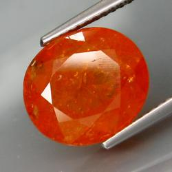 Amazing top Mandarin orange 7.70ct Namibian Garnet