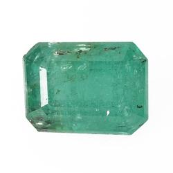 Vivid .88ct unheated Columbian Emerald