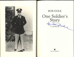 Bob Dole Autographed Signed One Soldiers Story Book RACC TS