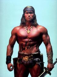 Arnold Schwarzenegger Signed Conan The Barbarian 12x16