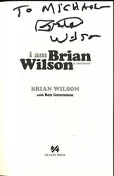 Brian Wilson Autographed Signed I Am Brian Wilson Book