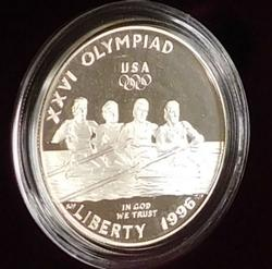 1996 Atlanta Olympics PROOF Sil Dol - Rowing