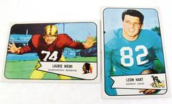 2 Bowman 1954 Football Cards