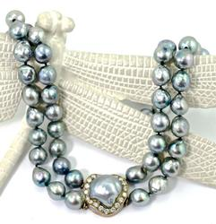 Stunning Pearl and Diamond Necklace
