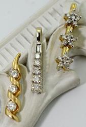 Group of 3 14K Diamond Pendants