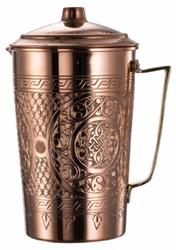 Copper Water Moscow Mule Serving Pitcher Jug with Lid