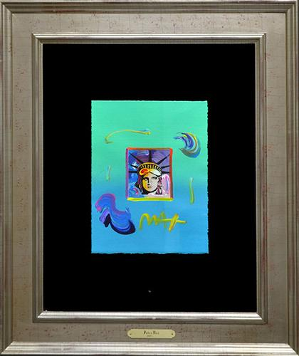 One Of A Kind Signed Peter Max Mixed Media