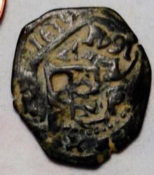 Spain 1619 8 Maravedis 1619 r.s 1641 AE Cobb