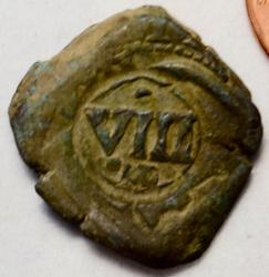 8 Maravedis Spain 1641 r.s. 1641 AE Cobb King PhillipIV