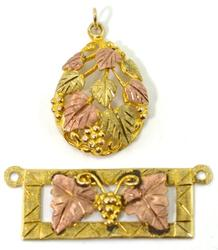 Two Black Hills Gold Pendants