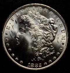 1882 GSA Carson City Morgan Silver Dollar  with box &paper