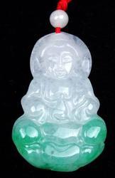 Buddha Holding Bottle Jade Pendant