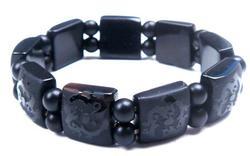 Dragon Carved Black Agate Bracelet