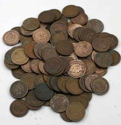 105 assorted Indian cents Well mixed lot 1880-1908