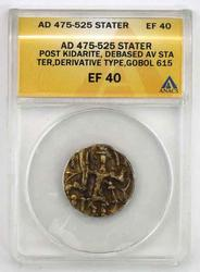India Gold Stater AD 475-525 IN Ef 40 ANACS