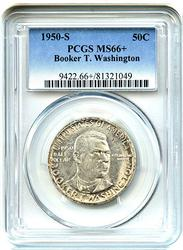 1950-S BTW Commem. 50c PCGS MS66+