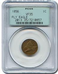Highlight Rare 1856 Flying Eagle Cent VF35 PCGS
