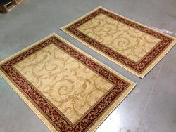 Contemporary French Scroll Matching Pair 3x4 Area Rug