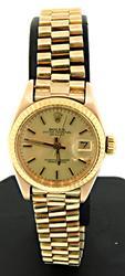 President 18kt Gold Ladies Rolex