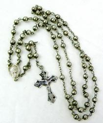 Early 800 Silver Petite Rosary