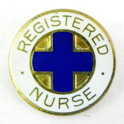 Vintage Sterling Registered Nurse Pin