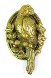 Vintage Figural Parrot Brass Door Knocker