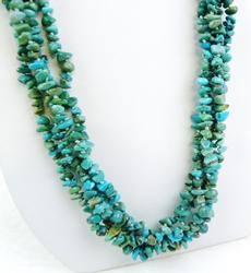 Vintage 4-Strand N.A. Indian Turquoise Necklace