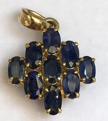 Natural Sapphire 14kt Yellow Gold Pendant