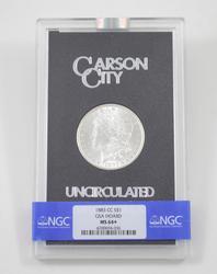 MS64+ 1883-CC Morgan Silver Dollar Unc Carson City GSA Hoard - NGC Graded