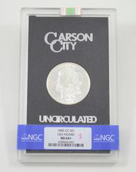 MS64+ 1883-CC Morgan Silver Dollar - Carson City - GSA Hoard - NGC Graded
