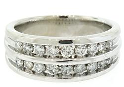 Sophisticated Gents Double Row Channel Set Diamond Band