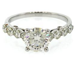 Elegant Moissanite Engagement Ring