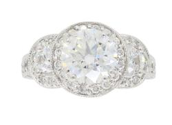 EGL Certified 2.45CTW Diamond Engagement Ring